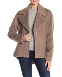 Laundry by Shelli Segal - Brushed Front Button Coat - Lyst