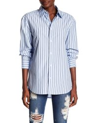 FRAME - Worn-in Stripe Button Down Shirt - Lyst