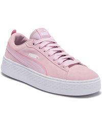 PUMA - Smash Suede Platform Sneaker - Lyst
