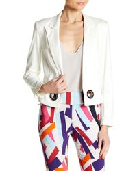 Insight - Cracked Faux Leather Grommet Blazer - Lyst
