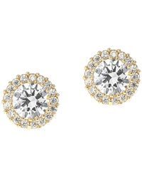 CZ by Kenneth Jay Lane - Solitaire Cz & Halo Round Stud Earrings - Lyst