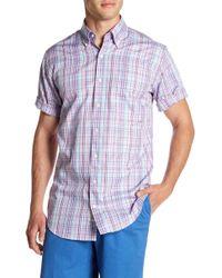 Peter Millar - Spring Pinwheel Check Print Regular Fit Shirt - Lyst