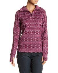 Obermeyer - Snowflake Print Fleece Pullover - Lyst