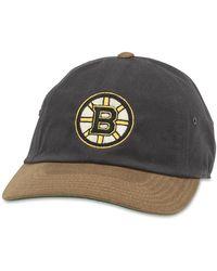 c863c5f041a86 American Needle - Nhl Boston Bruins Waxed Taylor Baseball Cap - Lyst