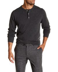 Weatherproof - Partial Button Cashmere Sweater - Lyst
