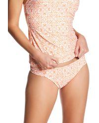 Helen Jon - Shirred Side Printed Bikini Bottoms - Lyst