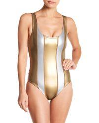 Cynthia Rowley - Golden Stripe One-piece Swimsuit - Lyst