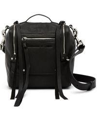 McQ - Mini Convertible Leather Box Crossbody Bag - Lyst
