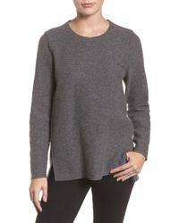 Eileen Fisher - Boiled Merino Wool Top (regular & Petite) - Lyst
