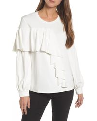 Halogen - Asymmetrical Knit Top (regular & Petite) - Lyst