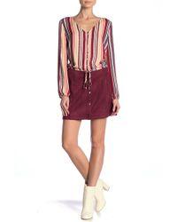 Jack BB Dakota - Can't Buy Me Love Snap Front Skirt - Lyst