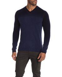 Autumn Cashmere - V-neck Dip Dye Cashmere Sweater - Lyst