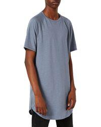 Topman | Longline T-shirt With Side Zips | Lyst