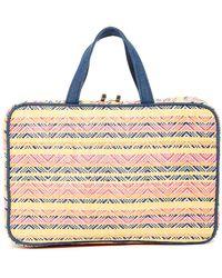 Kestrel - Straw Chevron Weekend Organizer Bag - Multi - Lyst