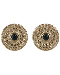 Anna Beck - Gold Plated Black Onyx Stud Earrings - Lyst