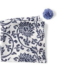 Original Penguin - Berger Floral Pocket Square & Lapel Pin Set - Lyst