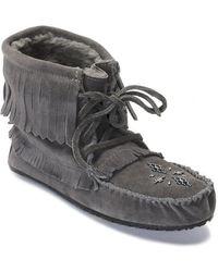 Manitobah Mukluks - Harvester Suede Moccasin Genuine Sheepskin Footbed Boot - Lyst