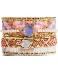 Hipanema - Camelia Beaded Bracelet - Lyst