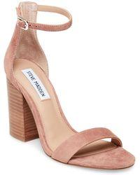 ce07afe842a5 Steve Madden - Frame Ankle Strap Block Heel Sandal - Lyst