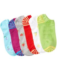 Hue - Liner Socks - Pack Of 6 - Lyst