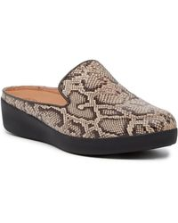 Fitflop - Superskate Leather Slip-on Mule - Lyst