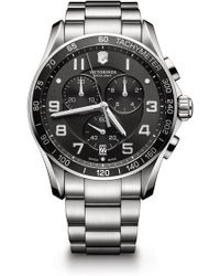 Victorinox | Men's Chronograph Class Xls Stainless Steel Watch, 45mm | Lyst