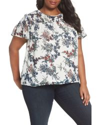 Vince Camuto - Smocked Garden Heirloom Top (plus Size) - Lyst