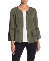 Sanctuary - Peplum 3/4 Sleeve Jacket - Lyst