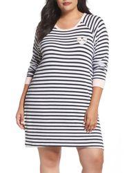 Pj Salvage - Stripe Peachy Jersey Nightshirt - Lyst