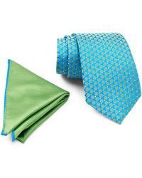 Ted Baker | Remy Neat Silk Tie & Pocket Square Set | Lyst