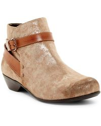 Comfortiva - Ryder Buckle Strap Bootie - Wide Width Available - Lyst