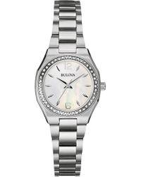 Bulova - Women's Diamond Bracelet Watch - 0.23 Ctw - Lyst
