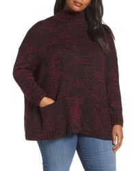 Sejour - Mock Neck Knit Jumper (plus Size) - Lyst