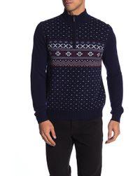 Brooks Brothers - Holiday Fair Isle Half Zip Sweater - Lyst