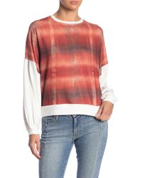 Go Couture - Solid & Patterned Crew Neck Dolman Sweater - Lyst