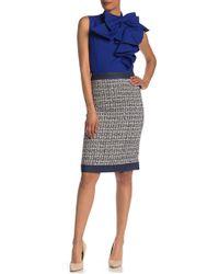 Gracia - Denim Trim Tweed Skirt - Lyst