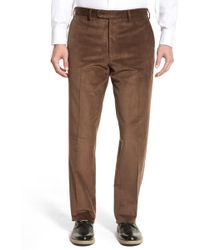 JB Britches | Flat Front Corduroy Trousers | Lyst