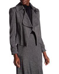 Anne Klein - Ruffled Tweed Jacket - Lyst