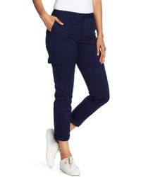 Vince Camuto - Cotton Chino Crop Cargo Trousers - Lyst