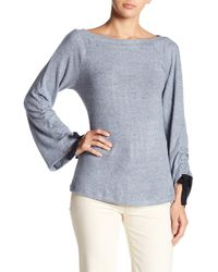 Bobeau - Tie Ruched Sleeve Jumper - Lyst