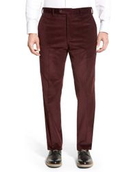 JB Britches - Flat Front Corduroy Trousers - Lyst