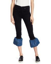 Genetic Denim - Runaway Contrast Flare Hem Jeans - Lyst