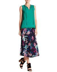 Joe Fresh - Floral Flare Midi Skirt - Lyst