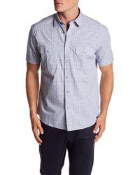 James Campbell - Vera Plaid Woven Short Sleeve Shirt - Lyst