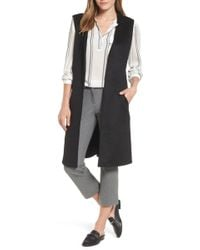 Halogen - Long Vest - Lyst