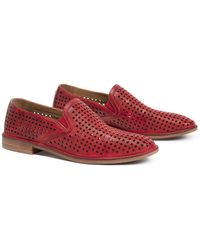 Trask - Ali Perforated Slip-on Leather Loafer - Lyst