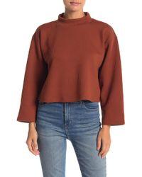 June & Hudson - Mock Neck Sweater - Lyst