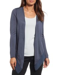 NIC+ZOE - Paired Up Silk Blend Cardigan - Lyst