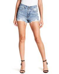Gracia - Damaged Denim Shorts - Lyst