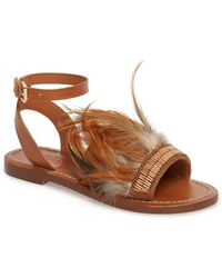 TOPSHOP - Firework Feathered Sandal (women) - Lyst